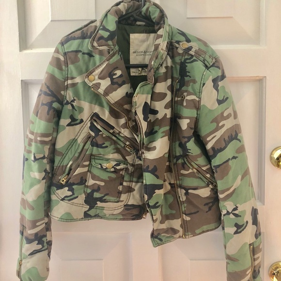 Ralph Lauren Jackets & Blazers - Ralph Lauren Denim & Supply Camo Motorcycle Jacket